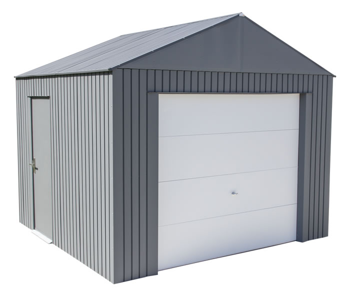 Sojag 12x10 Everest Steel Storage Garage Kit - Charcoal