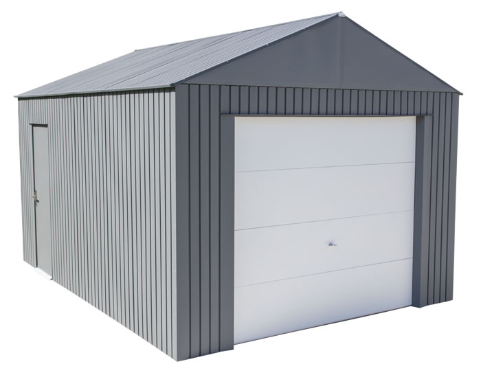 Sojag 12x15 Everest Steel Storage Garage Kit - Charcoal