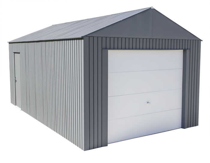 Sojag 12x20 Everest Steel Storage Garage Kit - Charcoal