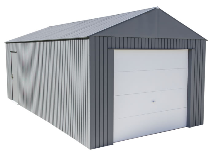 Sojag 12x25 Everest Steel Storage Garage Kit - Charcoal