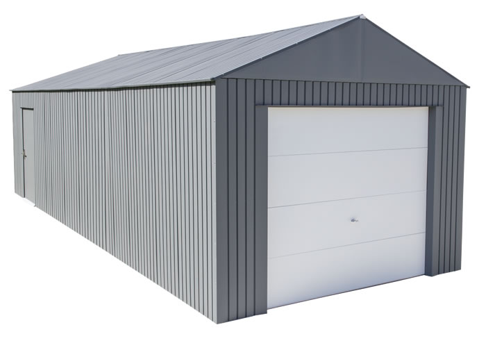 Sojag 12x30 Everest Steel Storage Garage Kit - Charcoal