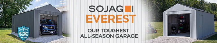Sojag Everest Steel Garages - Our Toughest All Season Metal Garage - Shop Now!