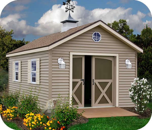 Best barns south dakota 12x16 vinyl siding wood shed kit for Garden shed 12x12