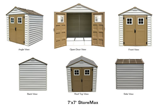 DuraMax 7x7 Shed - Views Of All Sides