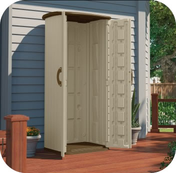 Suncast Sheds 20 Cubic Ft Vertical Shed Kit W Floor Bms1500