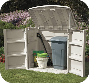 Horizontal storage shed rubbermaid jobs