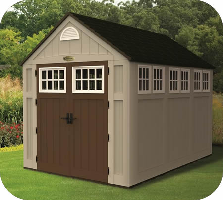 Suncast Alpine Storage Shed Resin 7 5 X 10 Ft 6x4 Sheds