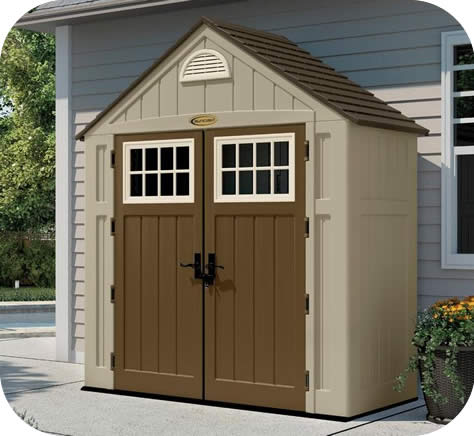 suncast 7x3 alpine resin storage shed kit