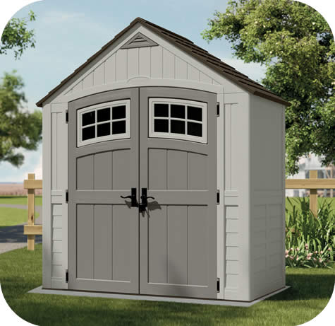 suncast 7x4 cascade resin storage shed kit - Garden Sheds 7x7