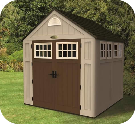 Suncast 7.5x7 Alpine Resin Storage Shed Kit