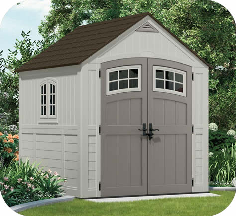 Suncast 7x7 Cascade Resin Storage Shed Kit & Suncast Sheds - Resin Storage Shed Kits