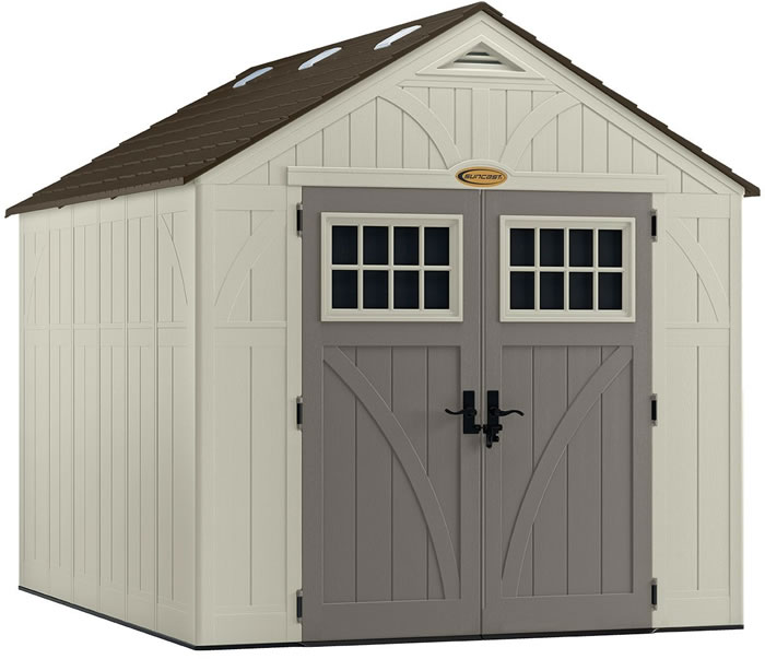 Suncast 8x10 Tremont Resin Shed Kit W Floor Bms8100