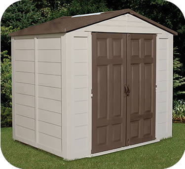 Suncast 8x6 Resin Plastic Storage Shed w/ Floor