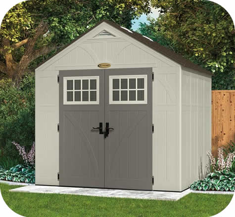 Suncast 8x7 Tremont Resin Shed Kit w/ Floor