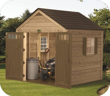 Suncast 8x8 American Hybrid Wood and Resin Shed Kit