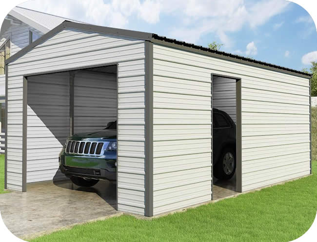 VersaTube 12x20x8 Frontier Steel Garage Kit