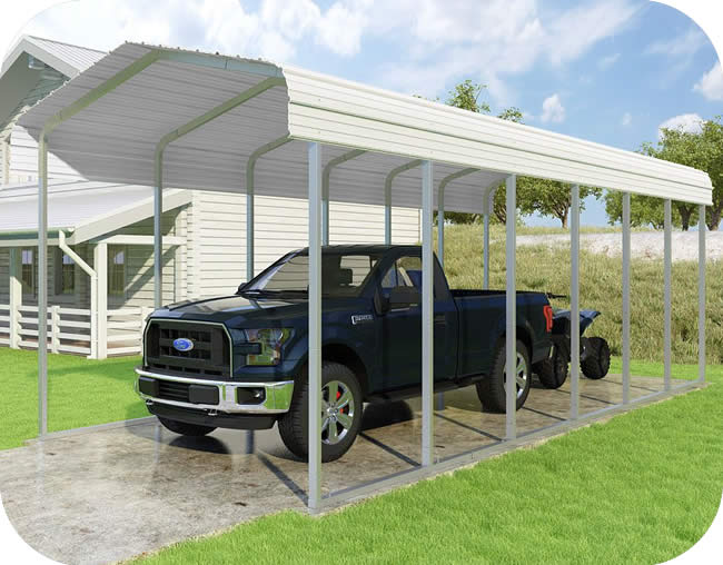 VersaTube 12x29x10 Classic Steel Carport Kit