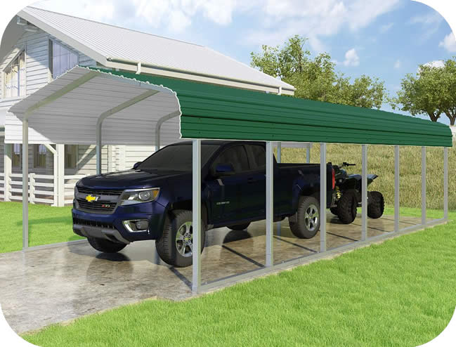 VersaTube 12x29x7 Classic Steel Carport Kit