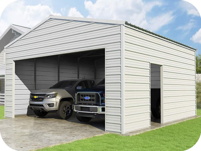 VersaTube 20x20x10 Frontier Steel Garage Kit