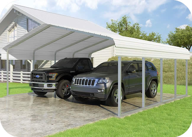 VersaTube 20x20x7 Classic Steel Carport Kit