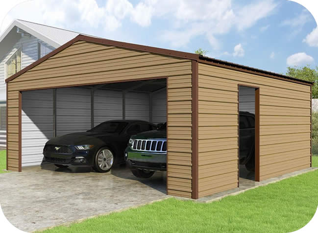 VersaTube 20x20x8 Frontier Steel Garage Kit