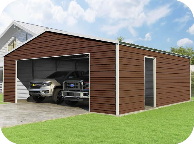 New storage shed kits and building products 3 car metal garage kits