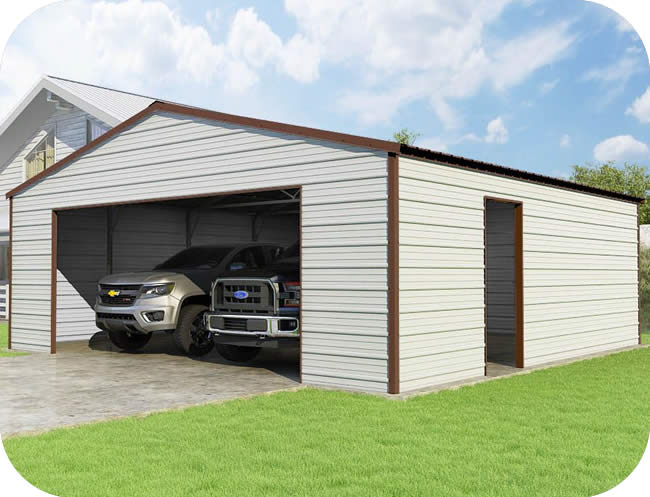 VersaTube 24x24x8 Frontier Steel Garage Kit