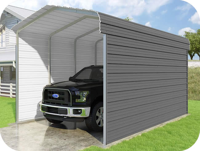 VersaTube 2-Sided 12x20x10 Classic Steel Carport Kit