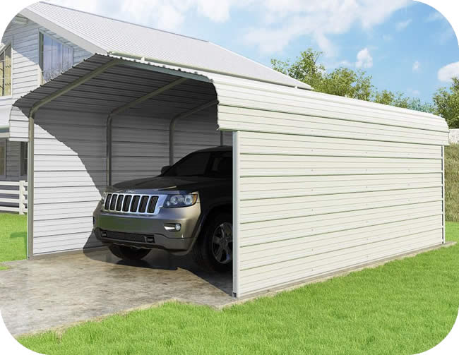 VersaTube 2-Sided 12x20x7 Classic Steel Carport Kit