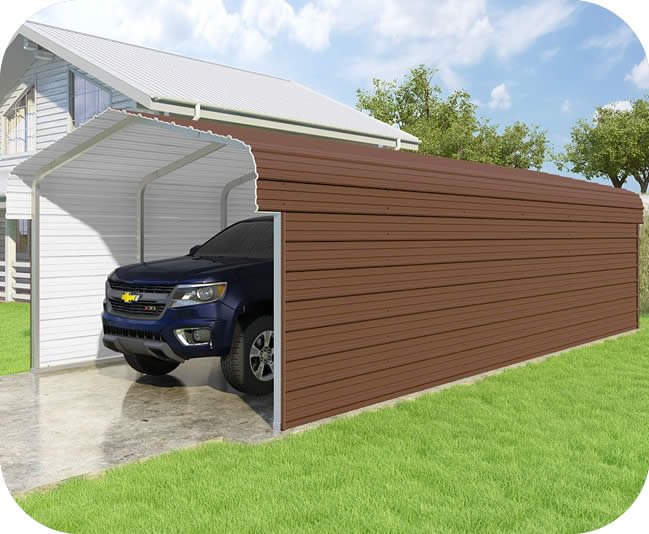 VersaTube 2-Sided 12x29x7 Classic Steel Carport Kit