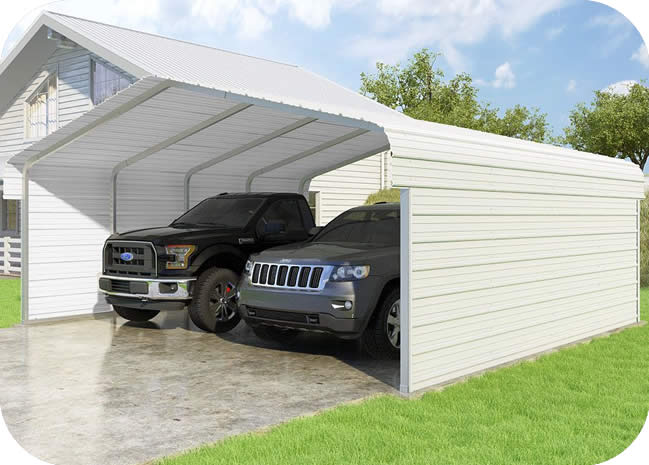 VersaTube 2-Sided 20x20x7 Classic Steel Carport Kit
