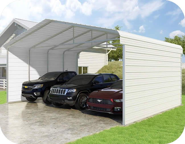 VersaTube 2-Sided 24x20x10 Classic Steel Carport Kit