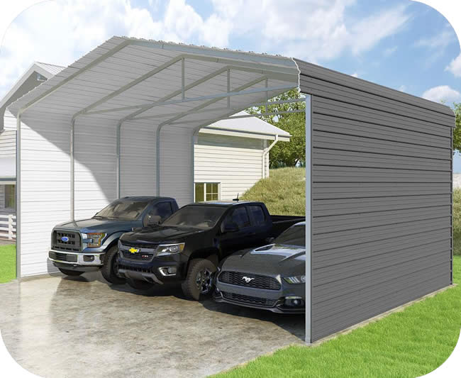 VersaTube 2-Sided 24x20x12 Classic Steel Carport Kit