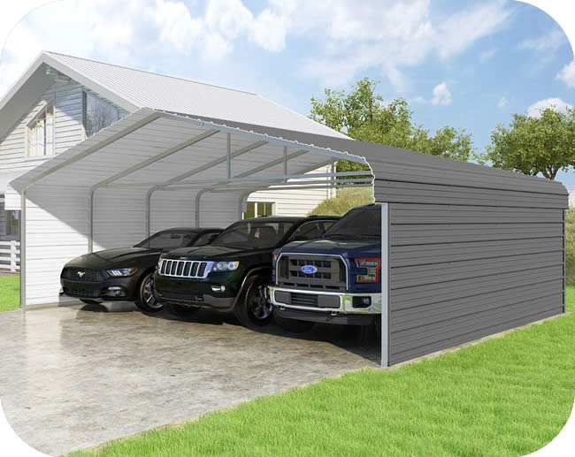 VersaTube 2-Sided 24x20x7 Classic Steel Carport Kit