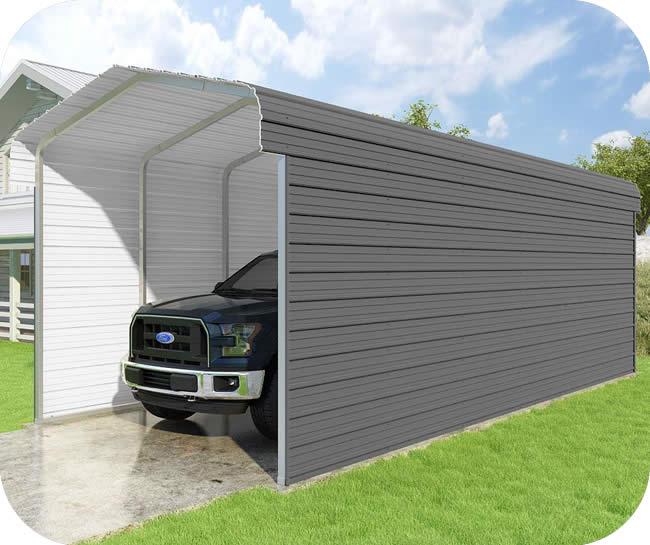 VersaTube 3-Sided 12x29x10 Classic Steel Carport Kit