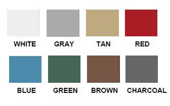 Versatube Carport Color Options