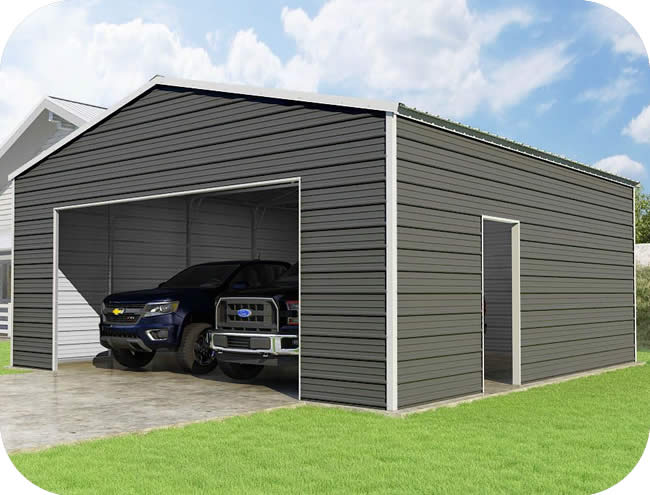 VersaTube 24x24x10 Frontier Steel Garage Kit