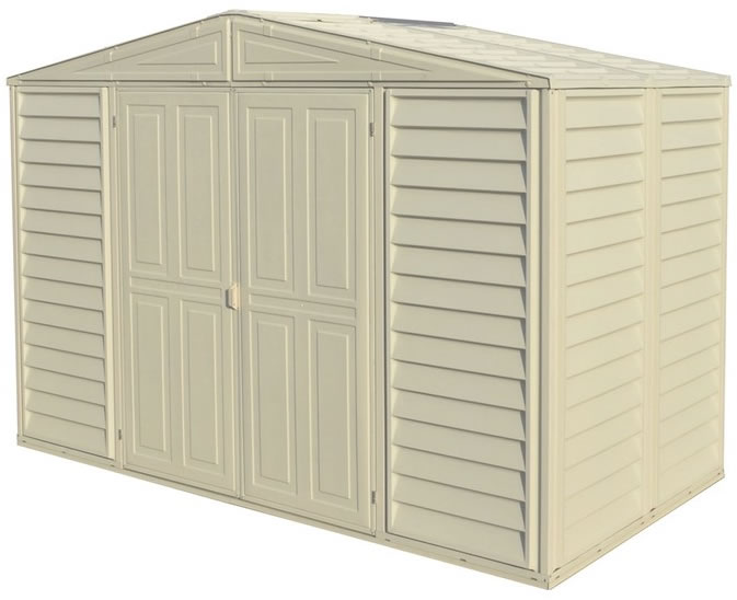 duramax 105x5 woodbridge vinyl shed w floor kit