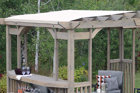 Removable, Snap-On PVS Coated Fabric Sunshade Included!