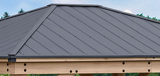 Aluminum Roof in Attractive Graphite Gray Color Included!