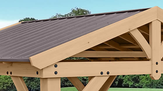 Aluminum Roof in Attractive Brown Color Included!