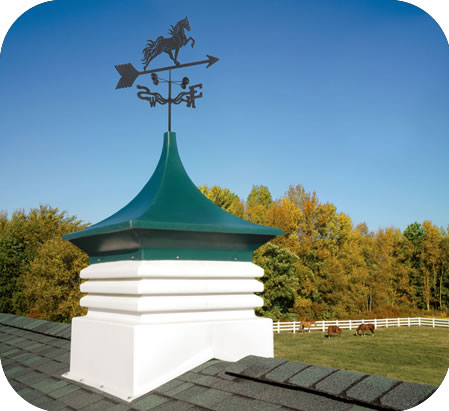 AG-CO Large Storage Shed Cupola w/ Weathervane