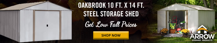 Arrow 10x14 Oakbrook Sheds Clearance Sale - Limited Quantity Available, Order Today!