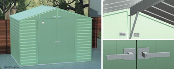 Arrow 10x8 Select Steel Shed Kits Included Key Locking Door Handles!