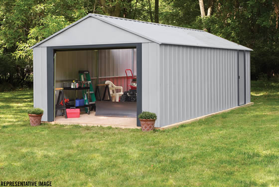 Arrow 12x17 Murryhill Garage Assembled In The Backyard