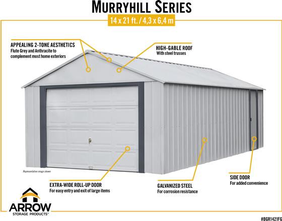 Arrow Murryhill Storage Garage Features & Benefits