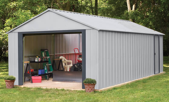 Arrow 14x31 Murryhill Garage Assembled In The Backyard