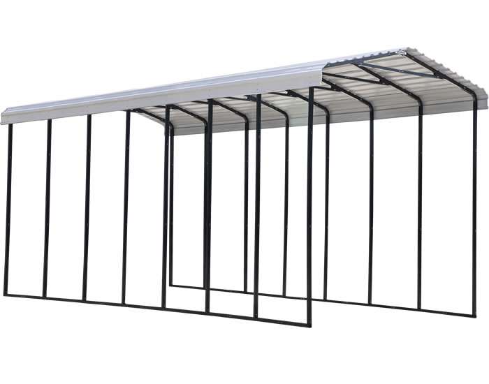 Arrow 14x33x14 Steel RV Carport Kit - Eggshell