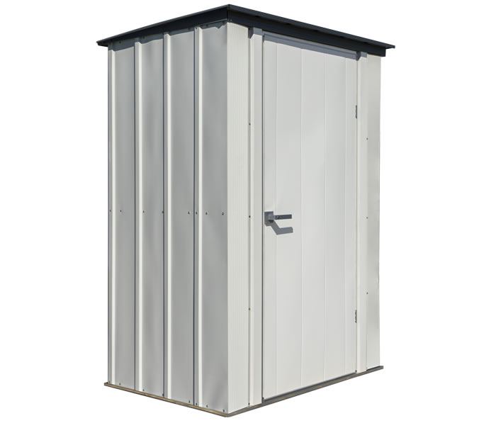 Arrow 4x3 Spacemaker Patio Shed Kit - Gray