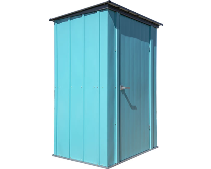 Arrow 4x3 Spacemaker Patio Shed Kit - Teal